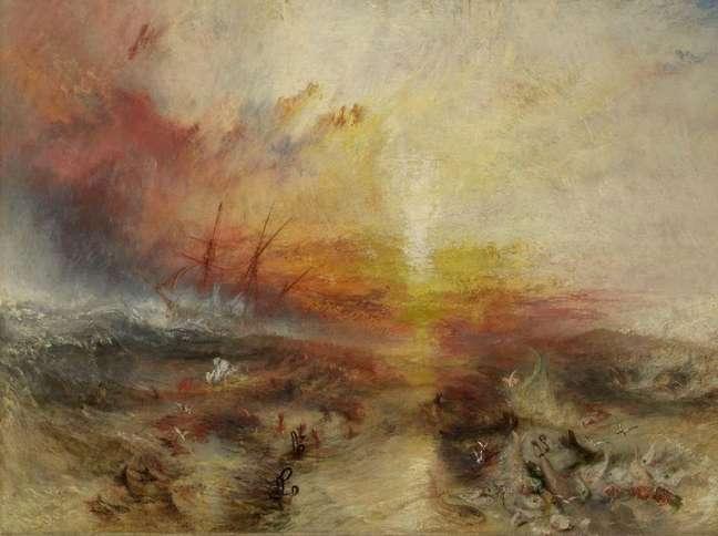 A obra 'Navio Negreiro', de William Turner, é considerada por muitos como a interpretação do artista sobre o Massacre de Zong