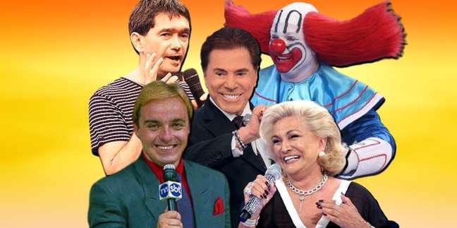 Silvio Santos, Hebe, Gugu, Serginho Groisman eBozoencantaram várias gerações de telespectadores do SBT