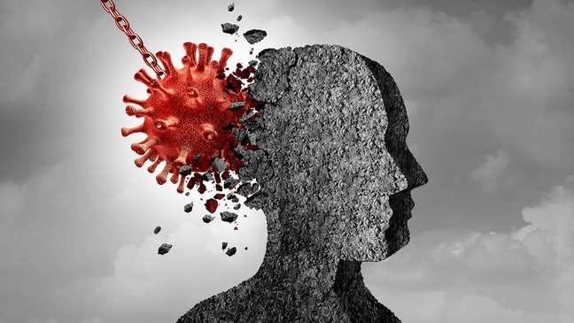 Estudo aponta que ansiedade, depressão e outros sintomas psicológicos e neurológicos são comuns em pessoas que tiveram covid-19
