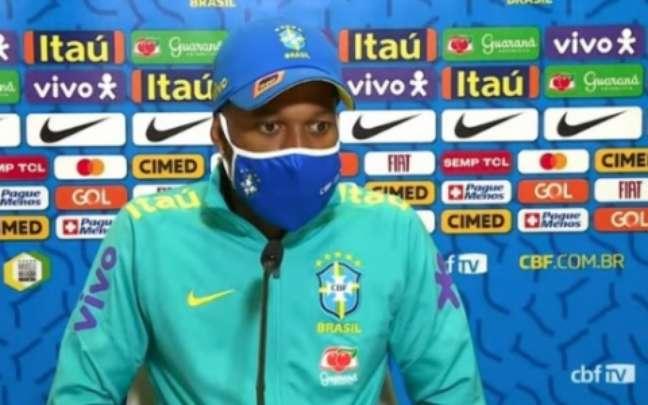 Fred vem sendo titular de Tite na Seleção (Reprodução / CBF TV)