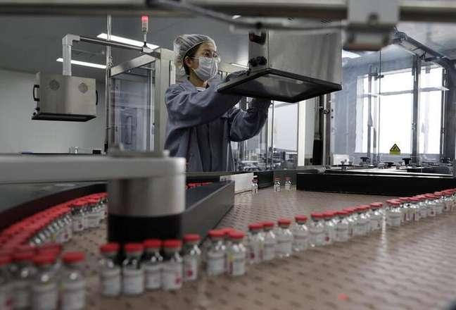 Linha de produção da vacina contra covid-19 da chinesa Cansino Biologics Inc