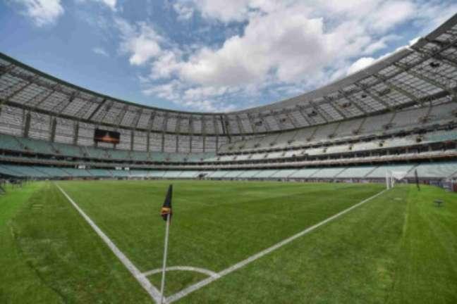 Estádio Olímpico em Baku, no Azerbaijão, está pronto (Foto: AFP)