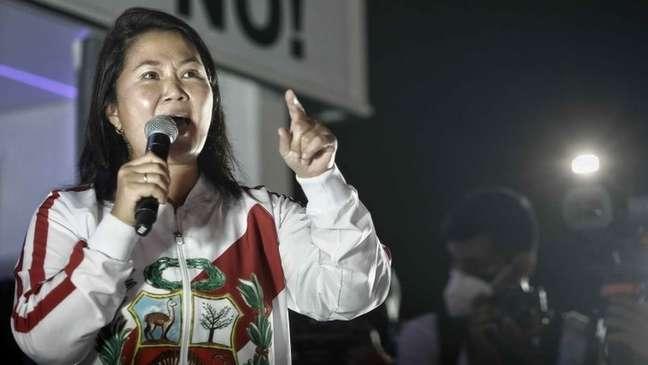 Keiko Fujimori denunciou uma suposta fraude no segundo turno