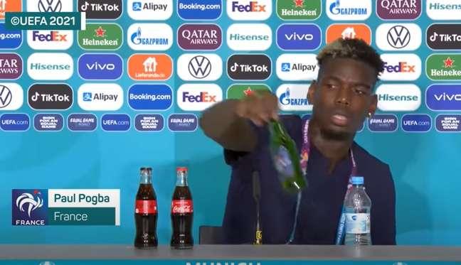 O meia Pogba, que foi vítima de racismo durante jogo da França nesta Eurocopa