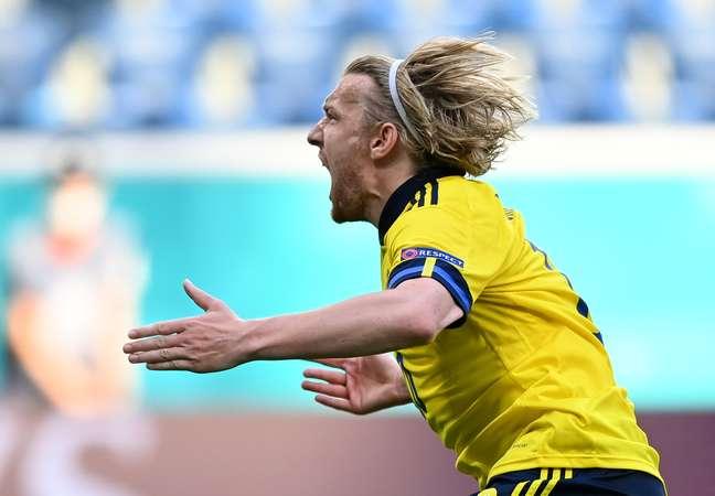 Forsberg marcou o único gol da Suécia