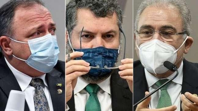 O general Pazuello, Ernesto Araújo e Marcelo Queiroga se tornaram investigados