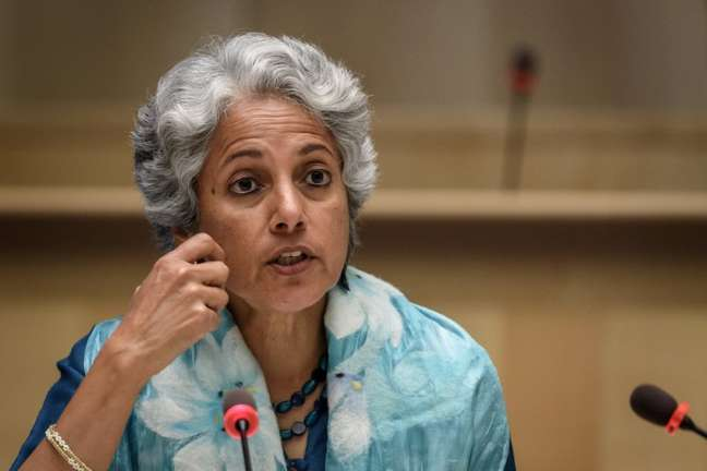 Cientista da OMS Soumya Swaminathan   3/7/2020   Fabrice Coffrini/Pool via REUTERS
