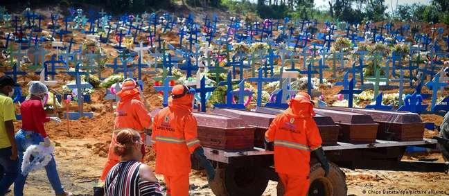 Cemitério coletivo em Manaus