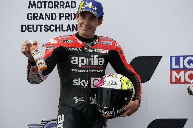 Aleix Espargaró não aparecia na primeira fila desde o segundo lugar no GP da Holanda de 2015