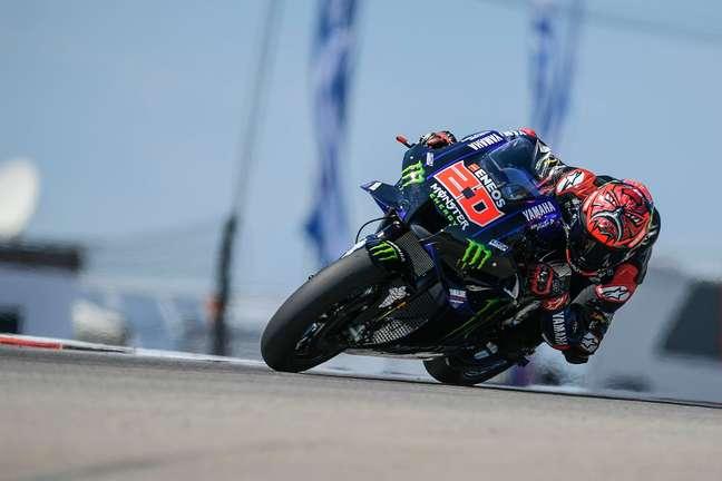 Fabio Quartararo colocou a Yamaha na frente nesta manhã de sábado