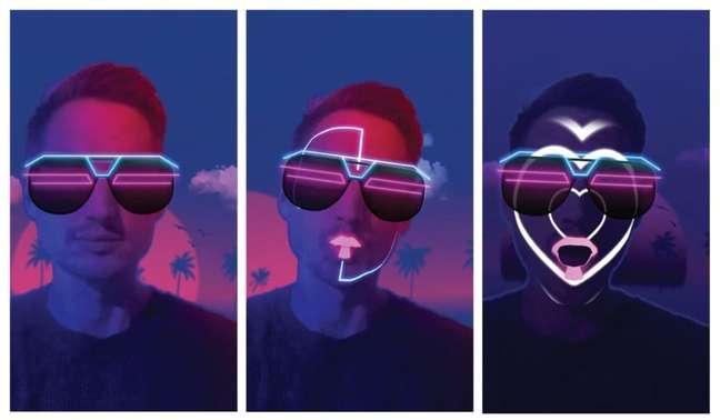 David Gueta com filtros de realidade aumentada do Spark AR