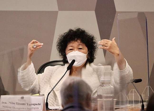 A médica Nise Yamaguchi depõe na CPI da Covid-19 no Senado Federal em Brasília