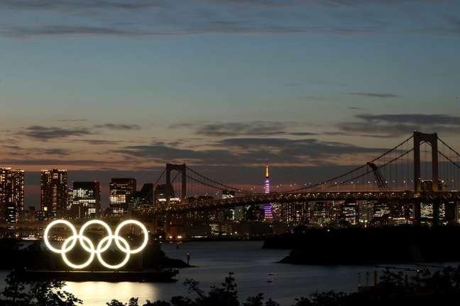 Anéis olímpicos em Tóquio 21/06/2021 REUTERS/Pawel Kopczynski