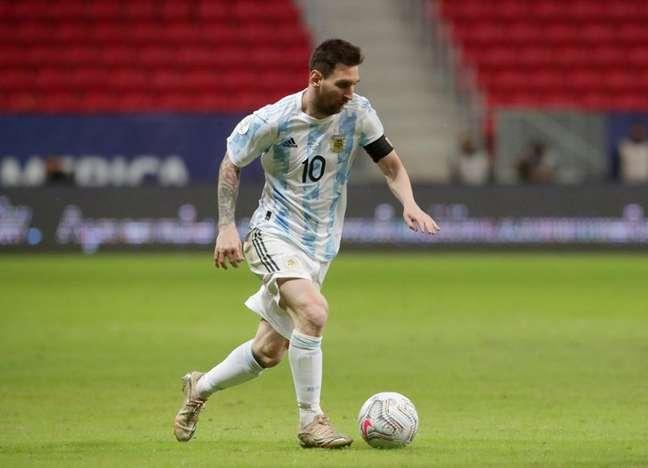 Lionel Messi durante partida pela Copa América 21/06/2021 REUTERS/Henry Romero