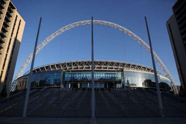 Estádio de Wembley, em Londres, cujo uso está programado para ocorrer nas semifinais e finais desta Eurocopa 12/06/2021 REUTERS/Carl Recine