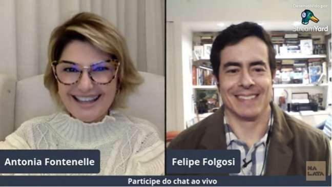 Antonia aproveitou para dar uma sugestão ao diretor do reality, enquanto conversava com Folgosi.