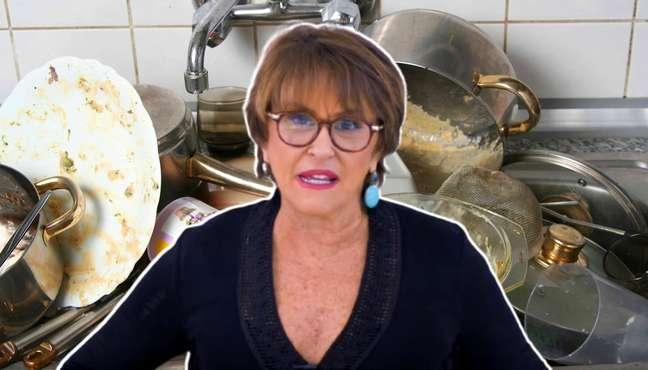 Haja detergente para deixar a pia sempre limpa a fim de espantar os espíritos comilões