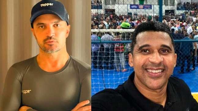 Falcão comentou sobre a rivalidade com Manoel Tobias (Montagem LANCE!)