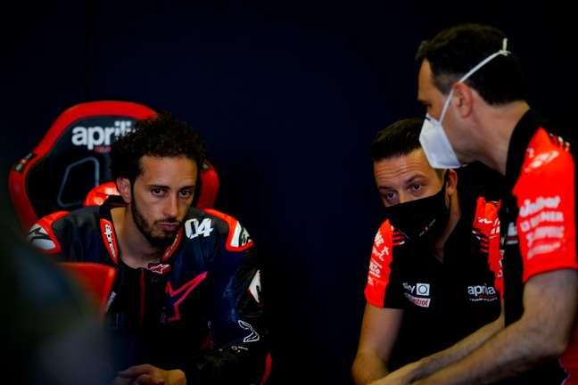 Andrea Dovizioso voltou a testar com a Aprilia em 2021