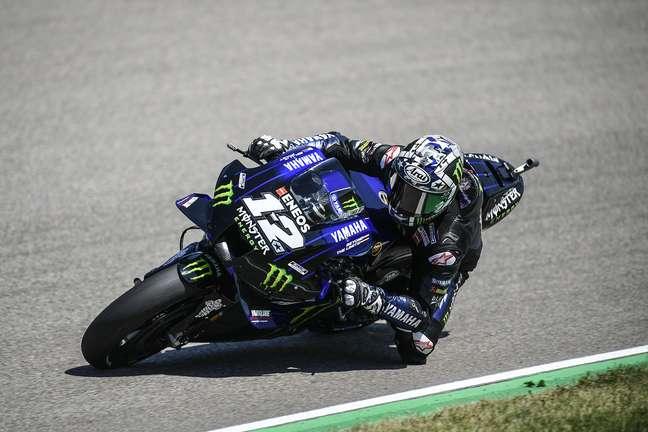 Maverick Viñales liderou a MotoGP nesta manhã