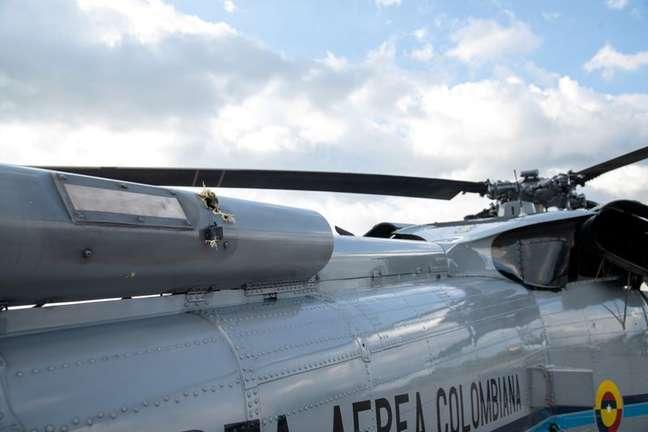 Helicóptero é atingido por balas   25/6/2021    Divulgação