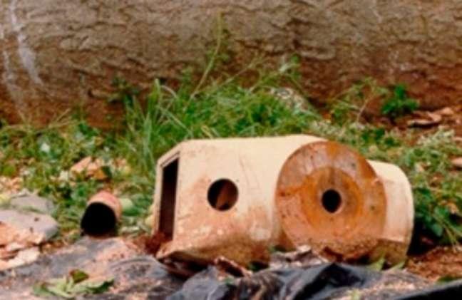 Cápsula achada pelos catadores de sucata e que continha o pó de Césio-137 (FOTO: Divulgação)