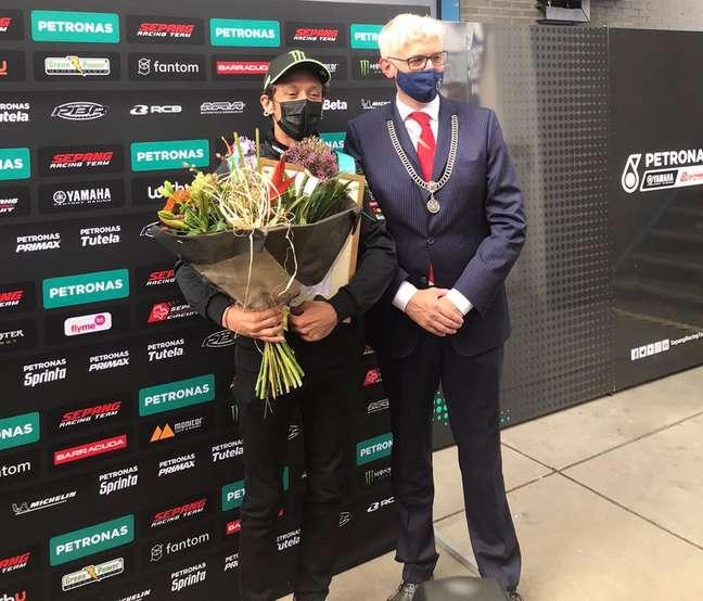Valentino Rossi foi nomeado cidadão honorário de Assen pelo prefeito Marco Out