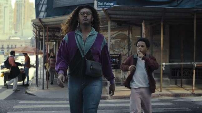 """Liniker e Gustavo Coelho em cena da série """"Manhãs de Setembro"""", da Amazon Prime Video"""