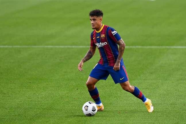 Coutinho fez apenas 14 jogos com a camisa do Barcelona na temporada 2020/21 (Foto: JOSEP LAGO / AFP)