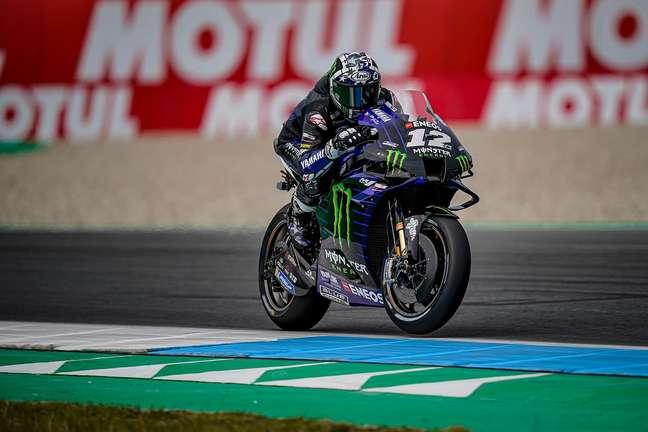 Maverick Viñales voltou a ser dominante na MotoGP nesta manhã