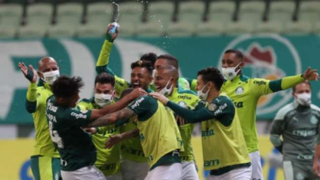 Palmeiras virou o jogo no fim (Foto: Cesar Greco / Palmeiras)