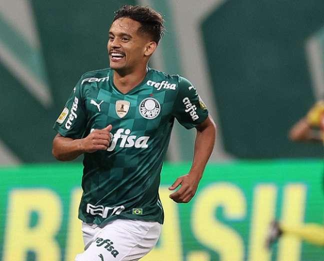 Gustavo Scarpa foi decisivo na vitória do Palmeiras sobre o Bahia no Allianz Parque (Foto: Cesar Greco/Palmeiras)
