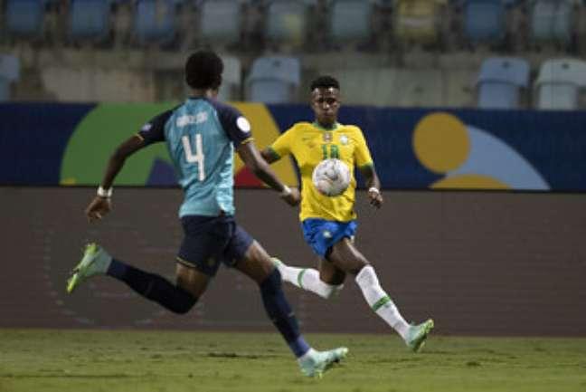 Arboleda marca Vini Jr no empate do Equador contra o Brasil na Copa América Lucas Figueiredo/CBF