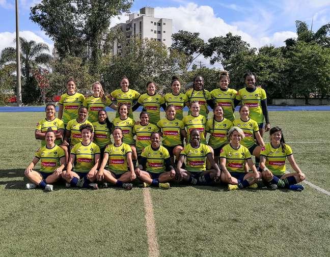 Jogadoras de rúgbi que vão representar o Brasil em Tóquio Divulgação CBRu