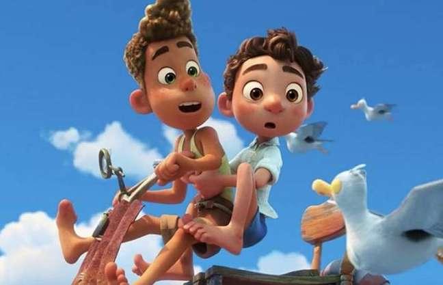 """Cena da animação """"Luca"""", da Pixar, no Disney+"""