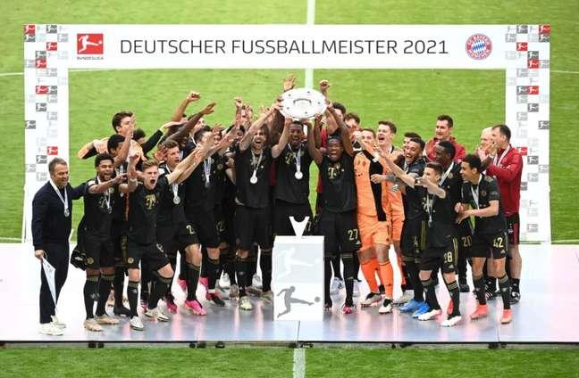 Bayern de Munique conquistou o título do Campeonato Alemão na temporada 2020/21 (Foto: Reprodução/Bayern)