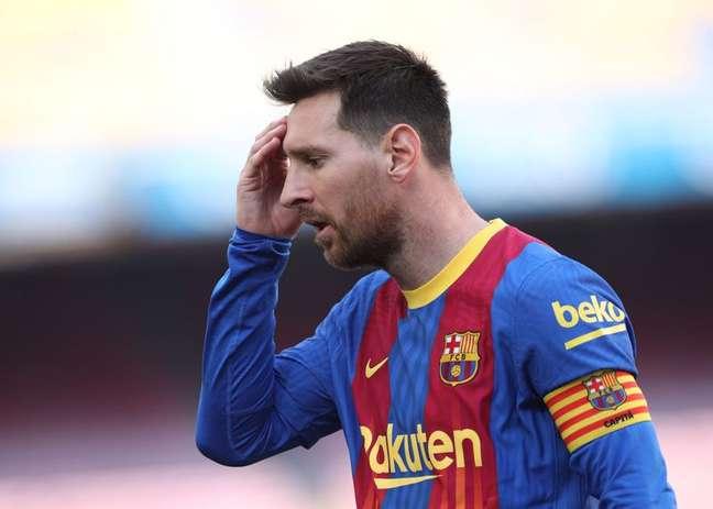 Em clube, Messi só atuou pelo Barcelona em toda a sua carreira  8/5/2021 REUTERS/Albert Gea