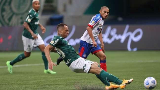 ]O Bahia fez um jogo movimentado contra o Palmeiras, mas saiu derrotado quer se recuperar contra o América-(Cesar Greco / Palmeiras)