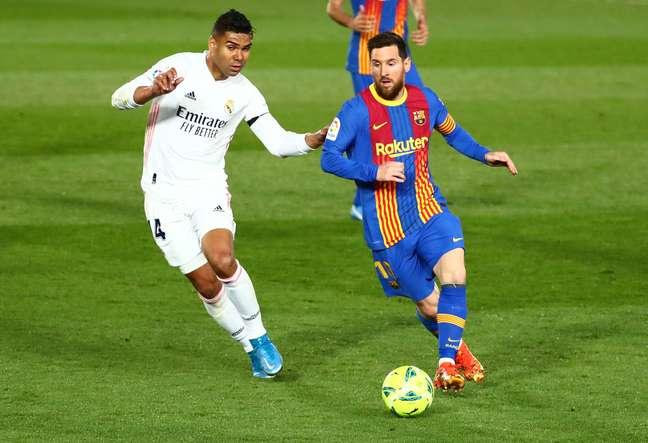 Casemiro e Messi fizeram um bom duelo pelo Campeonato Espanhol REUTERS/Sergio Perez