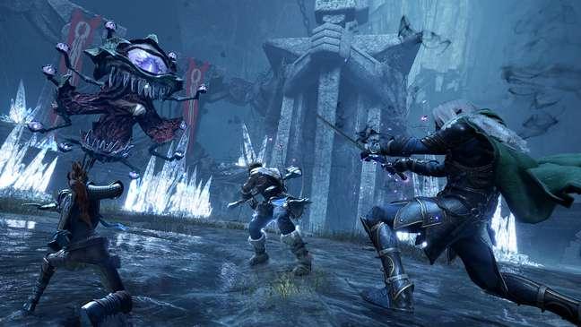 Lutar contra os monstros é o centro da experiência em Dark Alliance