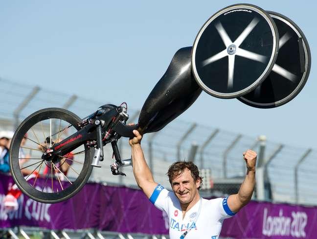 A comemoração de Zanardi nos Jogos Olímpicos de Londres