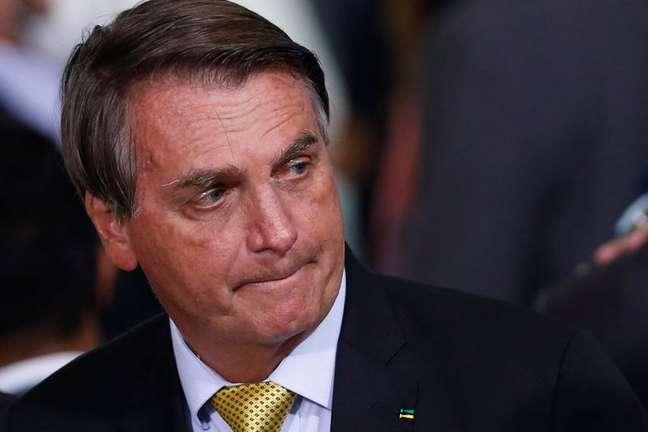 Presidente Jair Bolsonaro durante cerimônia no Palácio do Planalto 29/06/2021 REUTERS/Adriano Machado