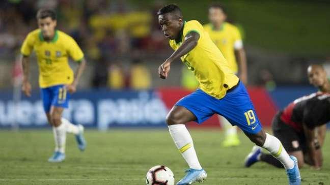 Vinicius Jr, da Seleção Brasileira, enfrenta o Peru pela Copa América Lucas Figueiredo/CBF
