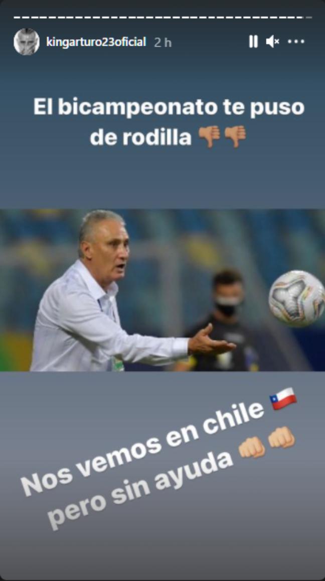 Vidal faz provocação à Seleção Brasileira em seu Instagram pessoal / (Foto: Reprodução)