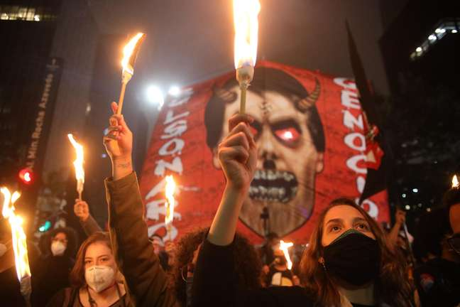 Protesto contra o presidente Jair Bolsonaro