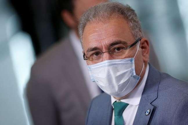 Ministro da Saúde, Marcelo Queiroga, durante cerimônia no Palácio do Planalto 29/06/2021 REUTERS/Adriano Machado