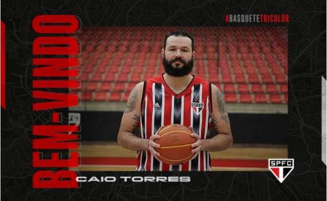 Caio Torres é o novo pivô do São Paulo (Foto: Divulgação)