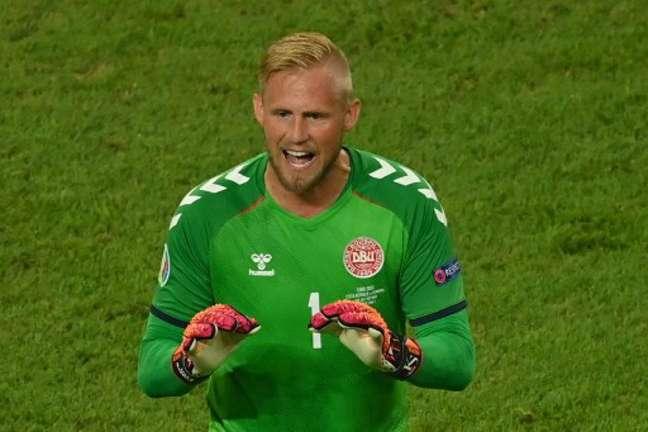 Schmeichel provocou ingleses antes da semifinal(Foto: DAN MULLAN / POOL / AFP)