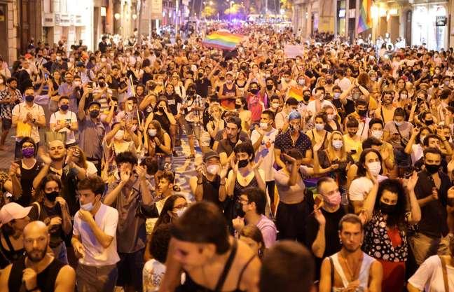 Protestos contra a morte de Samuel Luiz em Barcelona