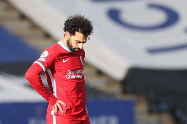Salah não irá participar da Olimpíada no Japão (CARL RECINE / POOL / AFP)